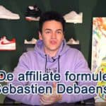 De affiliate formule van Sebastien Debaenst